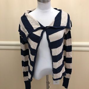 Ruby Moon stripes buttons down light sweater S